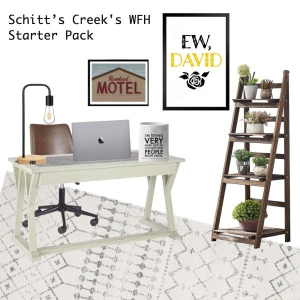 schitts creek wfh starter pack